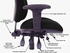 24 Hour Multi-Shift Black Fabric Ergonomic Chair w/Adjustable Sliding Seat Depth - 400 lb. Capacity!