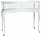 3' Width Queen Anne Tabletop Locking Showcase - Other Sizes Available