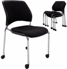 300 lb. Capacity Padded Mobile Stacking Guest Chair