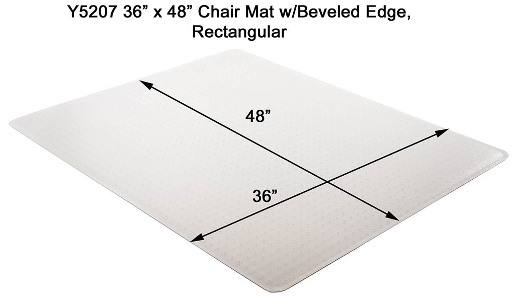 Low Pile Carpet 133 Thick Beveled Chair Mats 36x 48 See More