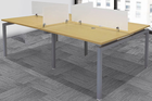 "4-Person Benching Workstation w/ 48"" x 24"" Worksurfaces"