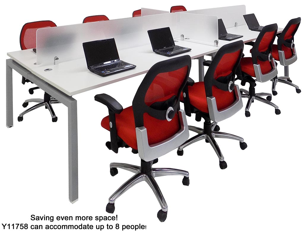 office work surfaces. 4person benching workstation w 48 office work surfaces