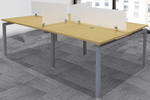 "4-Person Benching Workstation w/ 48"" x 28"" Worksurfaces"