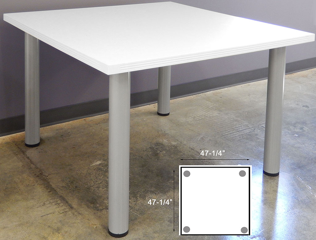 White Conference Tables 8 Length See Other Sizes