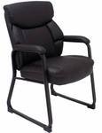 400 Lbs. Capacity Leather Guest/Reception Chair