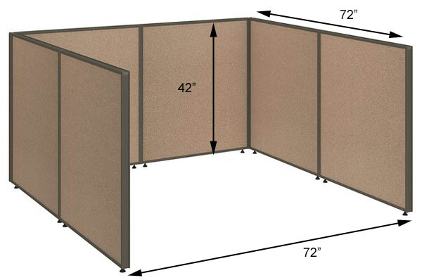 ProPanel Office Panel Packages 42 H 2 Person Workstation