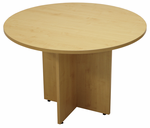 "42"" Round Maple Laminate Discussion Table"