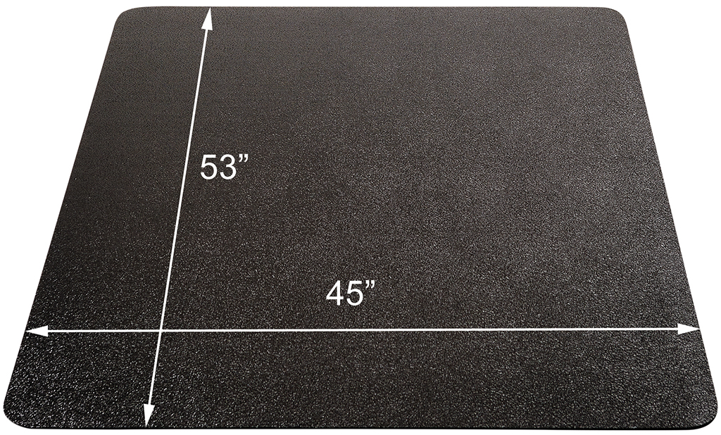 Black chair mats for low pile carpets 36 x 48 rectangular chair mat other sizes available - Deep pile carpet protector ...