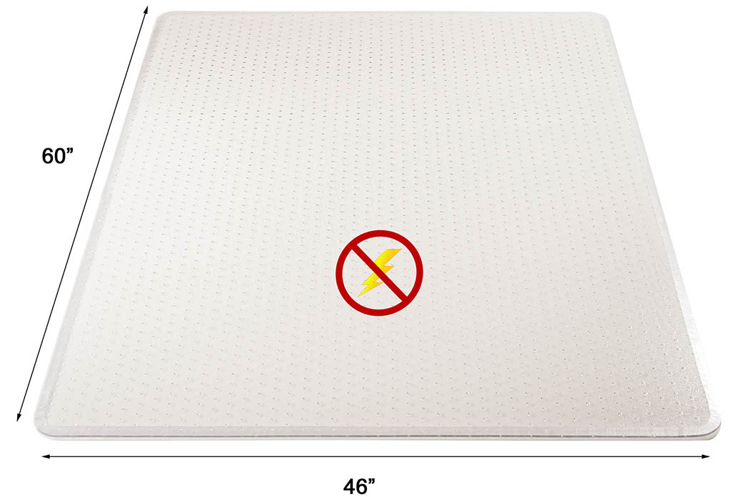 Anti Static Mat Office : Anti static low pile carpet quot thick chair mats