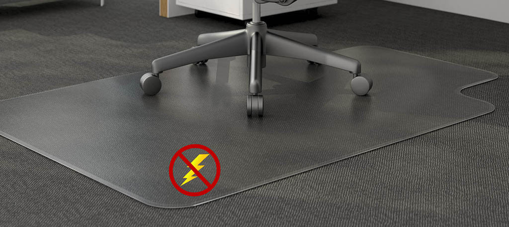 Static Mat For Office : Anti static low pile carpet quot thick chair mats