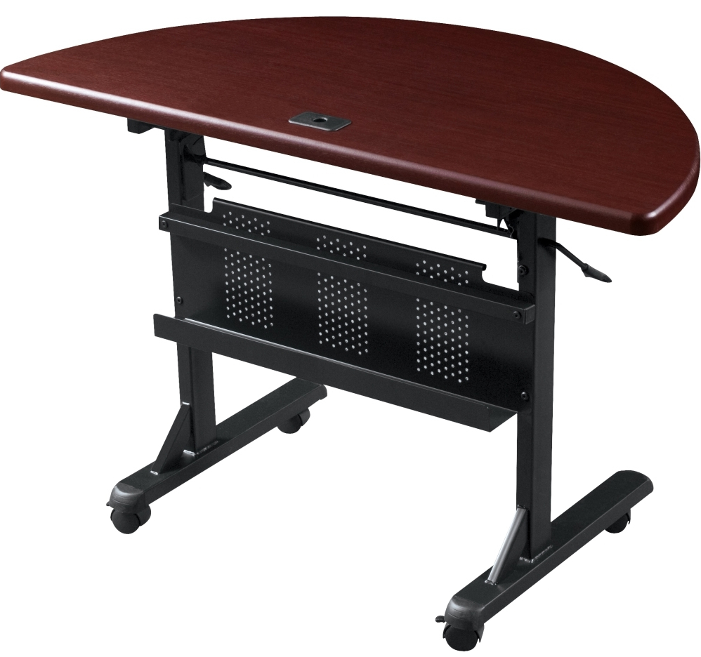 Modular flip top training tables 60 w x 24 d training for 1 x 2 table