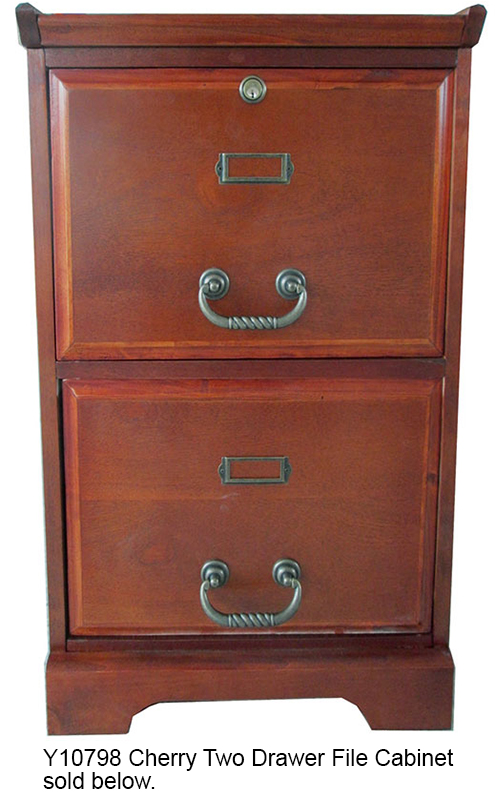 "53-3/4""w deluxe cherry roll top desk - in stock! 1 drawer file cabinet"