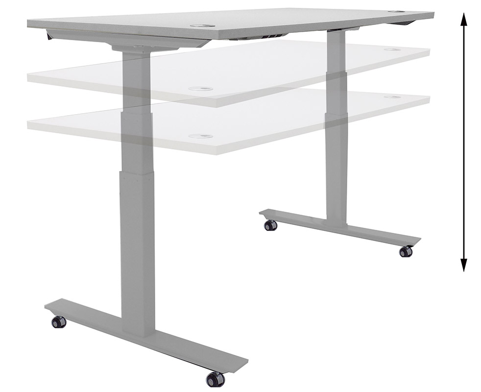 60 W X 24 D Mobile Electric Lift Height Adjule Table