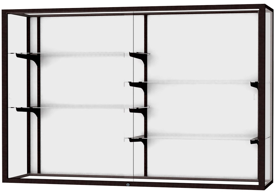 60 Wide Aluminum Frame Wall Mount Display Case