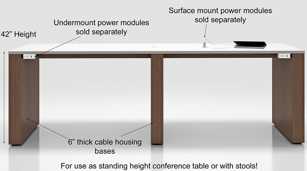 X Custom Standing Height Gathering Table Other Sizes Available - Stand up conference table