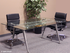 8' Rectangular Glass Conference Table
