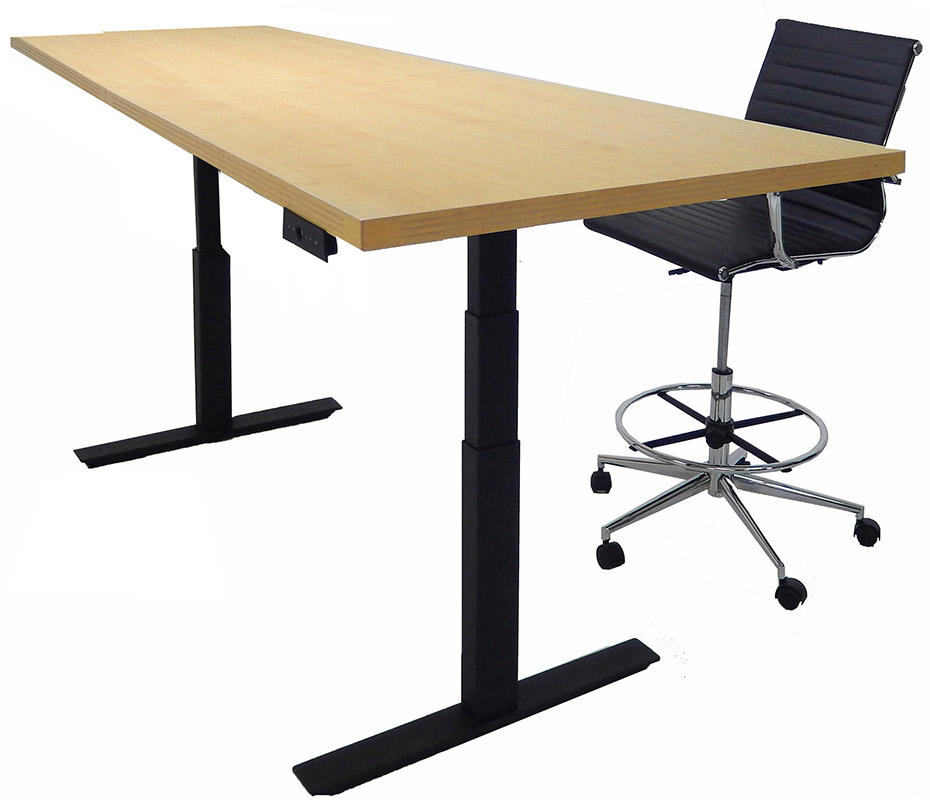 Adjustable Electric Lift X Rectangular Conference Table - Desk with meeting table