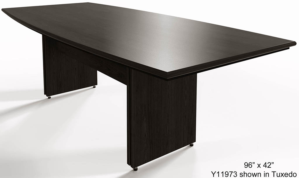 X Custom BoatShaped Meeting Table - 42 x 96 conference table