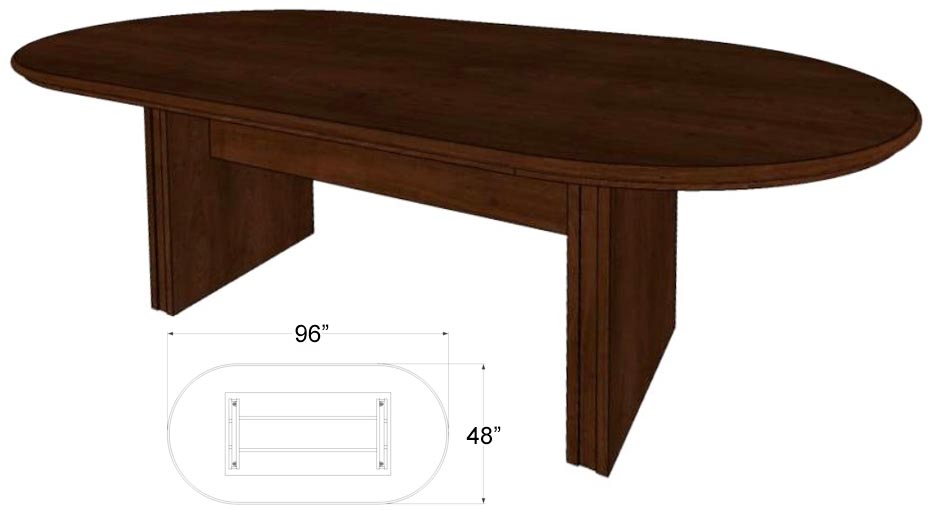 Custom Oval Racetrack Conference Tables 96 Quot X 42 Quot Table