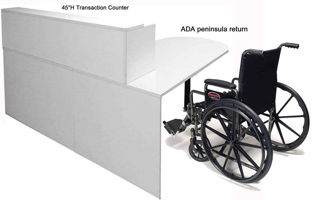 White Ada Reception Desk