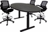 Adjustable Electric Lift 8' x 4' Oval Conference Table