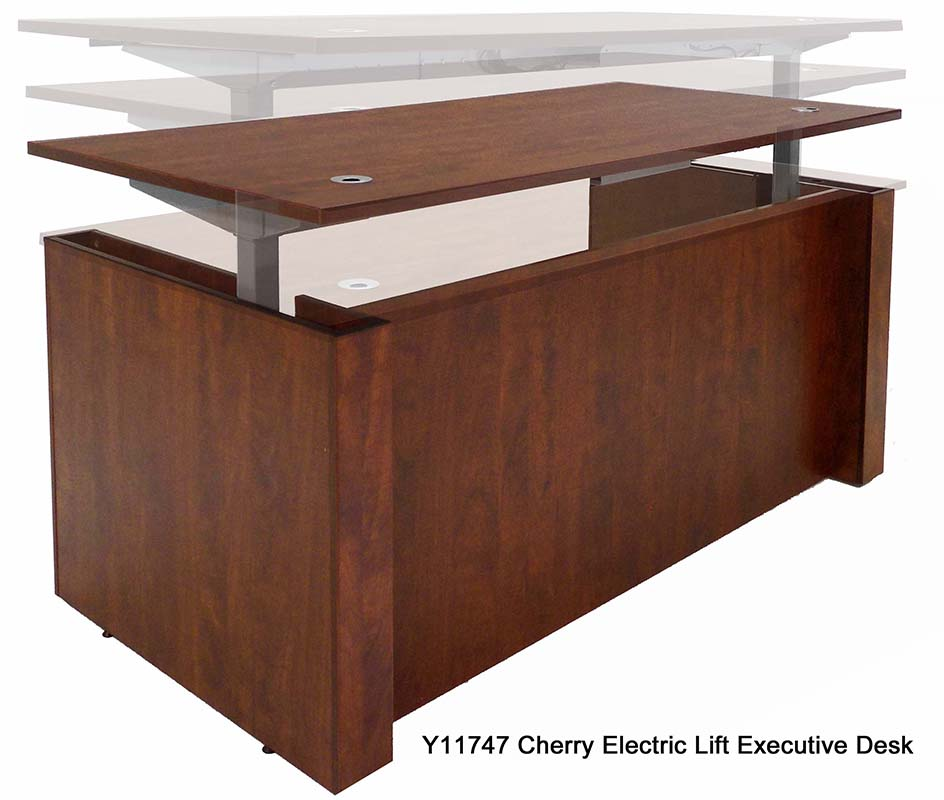 height executive office desk in cherry