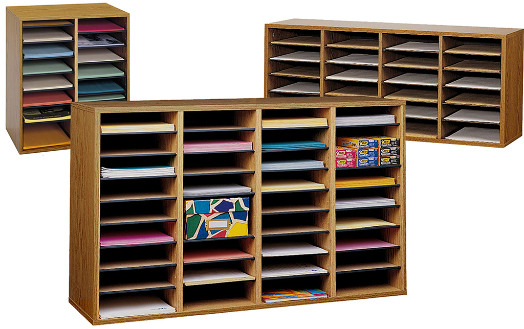 adjustable shelf high capacity literature organizer series