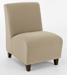 Siena Armless Guest Chair in Standard Fabric or Vinyl