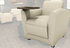 Aspire Leather Lounge Series - Mobile Lounge Chair with Tablet Arm