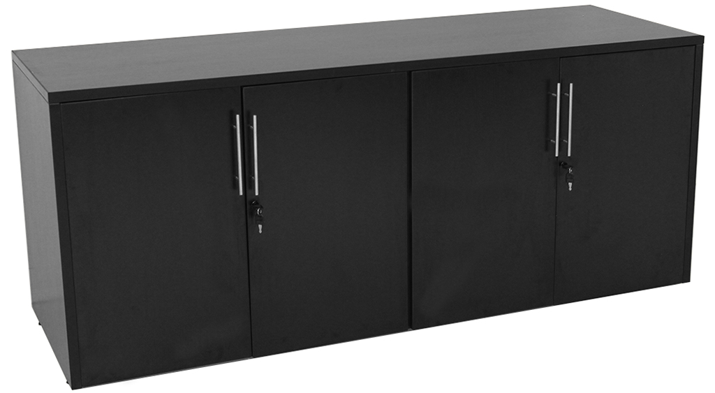 Black Storage Cabinet With Doors