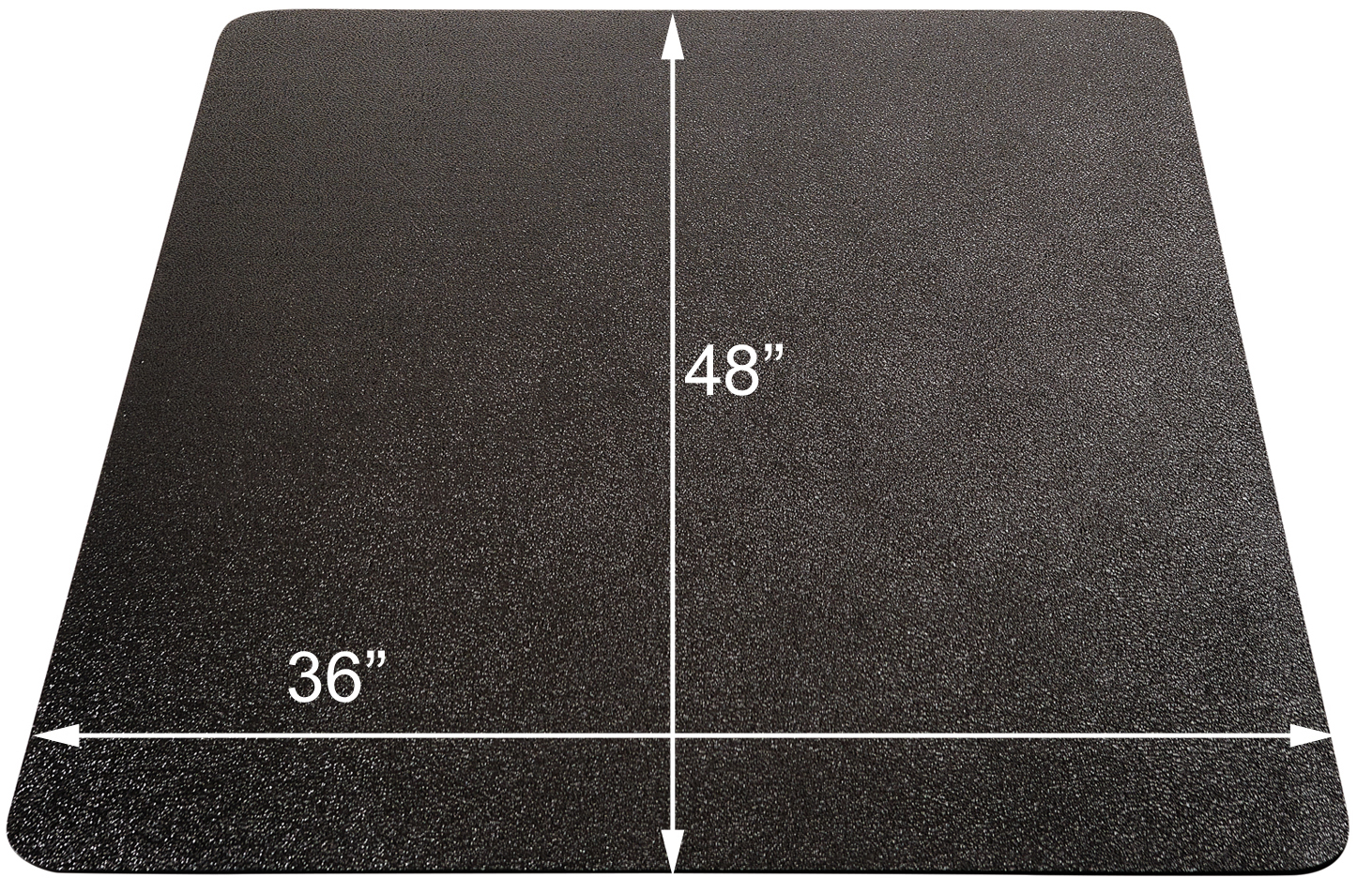 Black Chair Mats For Hard Floors 36 Quot X 48 Quot Rectangular