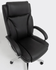 Black Leather Big & Tall Office Chair w/ 350 lb. Capacity