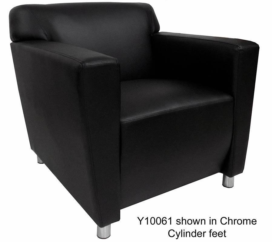 Black Leather Sofa Office: Black Leather Reception Seating
