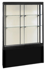 "66""H Black Pedestal Locking Display Cases"