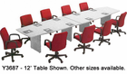 "Custom Boat-Shaped Conference Tables from 6' to 18' Long - 6' x 36"" Size - See Other Sizes Below"