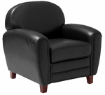 Bravo Black Leather Club Chair