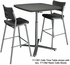 Cafe Time Pneumatic Height Adj. Flip Top Table