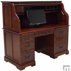 "59""W Cherry Roll Top Computer Desk - IN STOCK!"