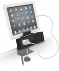 Clamp Mount Power Strip w/USB