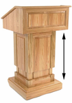 Counselor Power Lift Height Adjustable Solid Wood Lectern