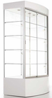 "73""H Curved Base Locking Display Cabinet w/Casters"
