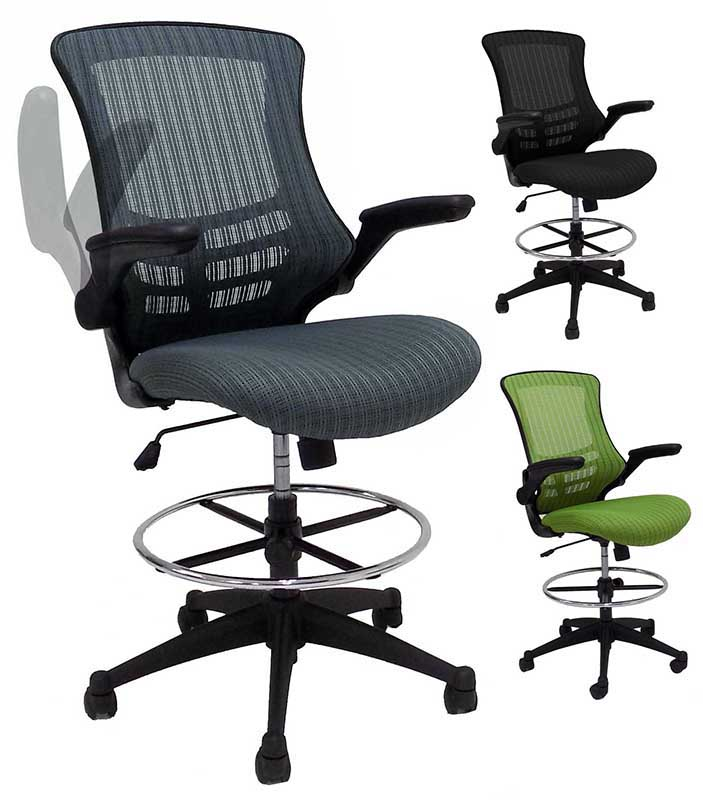 CurvForm Flip Up Arm Mesh Drafting Stool w/22 ...  sc 1 st  Modern Office : mesh drafting chair - Cheerinfomania.Com