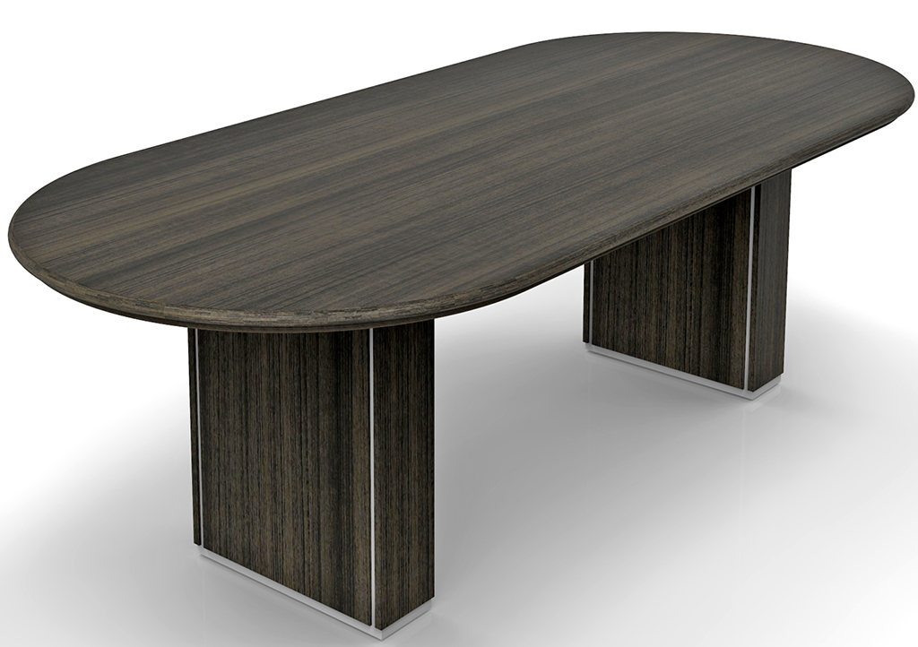 Custom Oval Conference Tables WCable Channel Bases X - Conference table bases wood