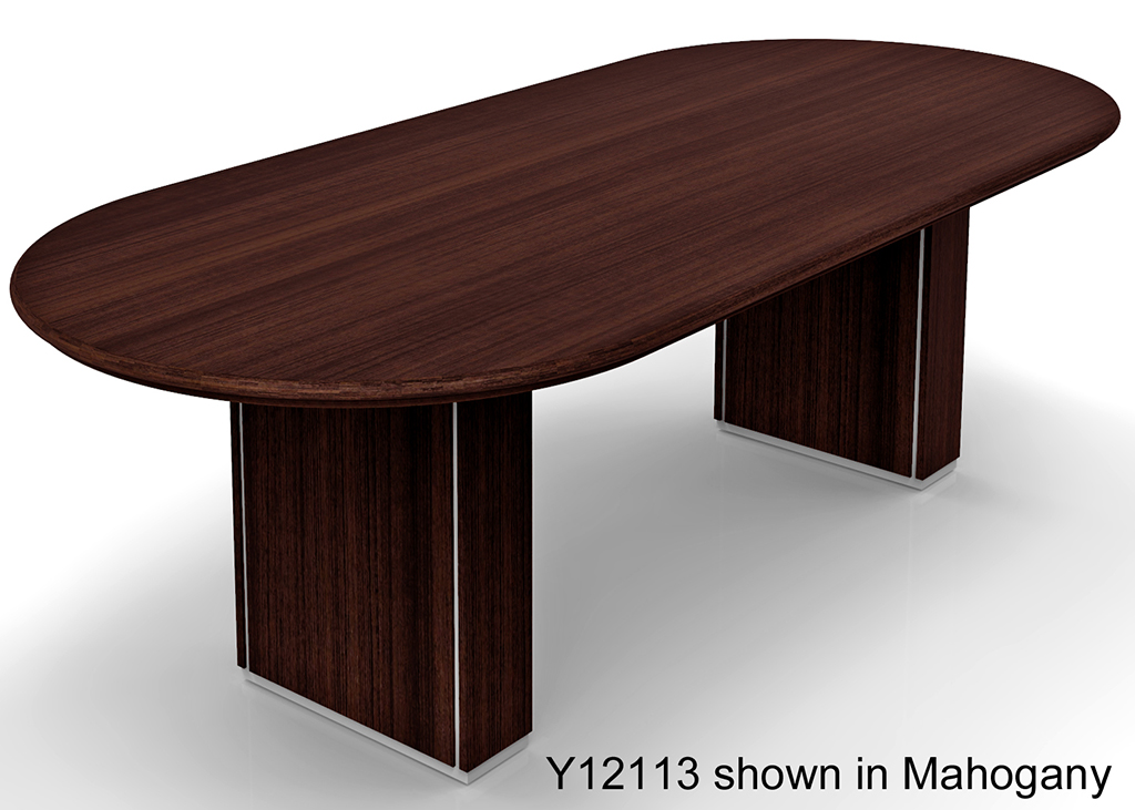 ... Custom Oval Conference Tables W/Cable Channel Bases   96 ...