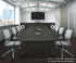 Custom Oval Conference Tables w/Cable Channel Bases - 96
