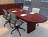 Custom Oval Racetrack Conference Tables - 96