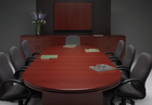 Custom Racetrack Shaped Boardroom Tables