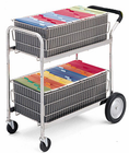 Deluxe Double File Basket Cart