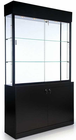 "80""H Salon Product Display Case with Locking Storage Base"