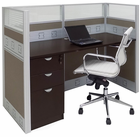 "60""W Premium Office Cubicle Series - 60""W x 24""D x 48""H Starter Cubicle w/File"
